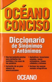 OCEANO CONCISO. DICCIONARIO DE SINONIMOS Y ANTONIMOS