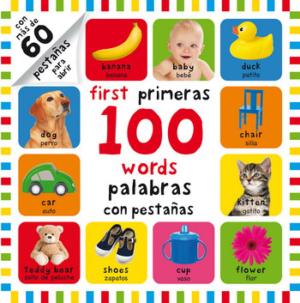 MIS PRIMERAS 100 PALABRAS CON PESTAÑAS - BILINGÜE